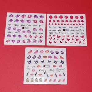 Other - 3-Piece Fashion Nail Art Sticker Set